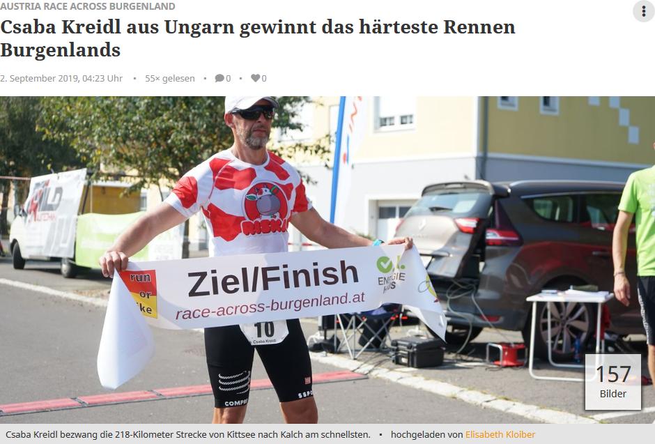 Austria Race Across Burgenland 2019 auf meinbezirk.at