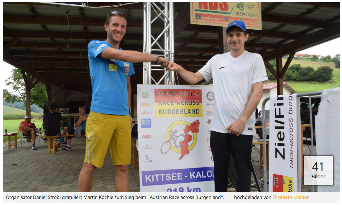 Race Across Burgenland Premierensiege für Martin Köchle und Angelika Huemer-Toff